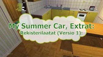 My Summer Car, Extrat: Rekisterilaatat versio 1