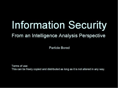 Information Security from an Intelligence Analysis Perspective