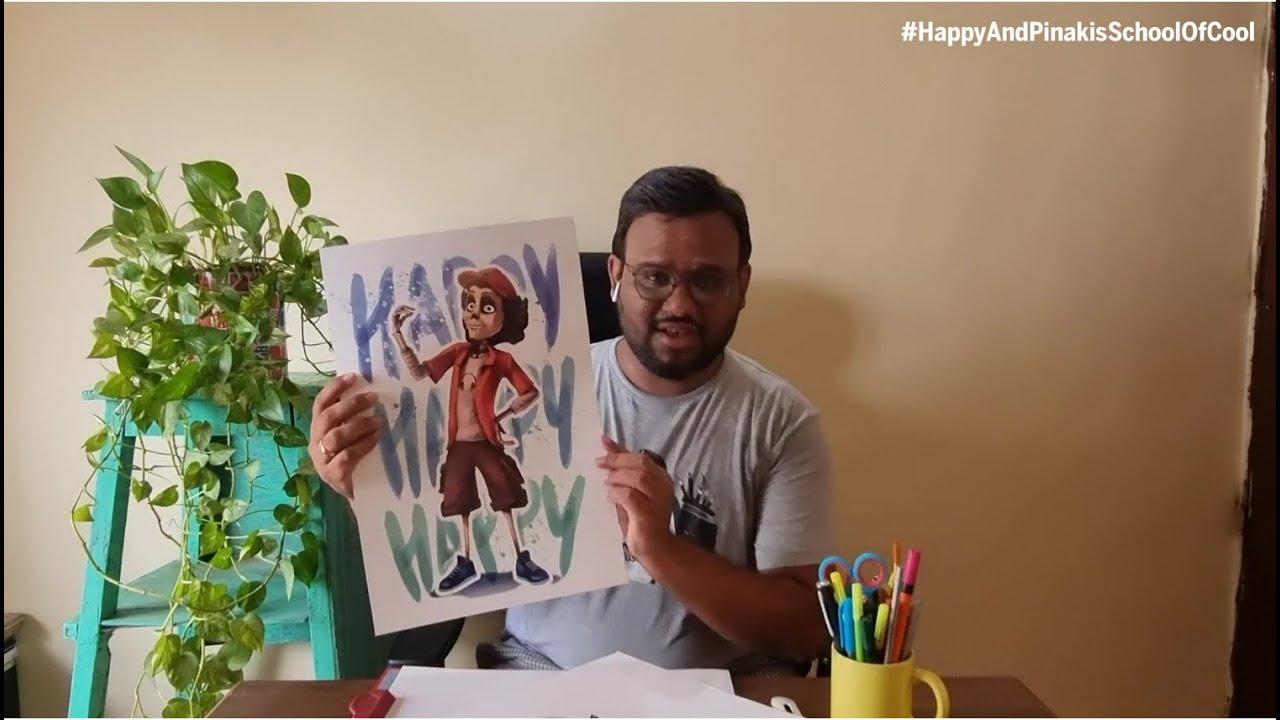 Sonic  Happy Illustration   Uday Mohite