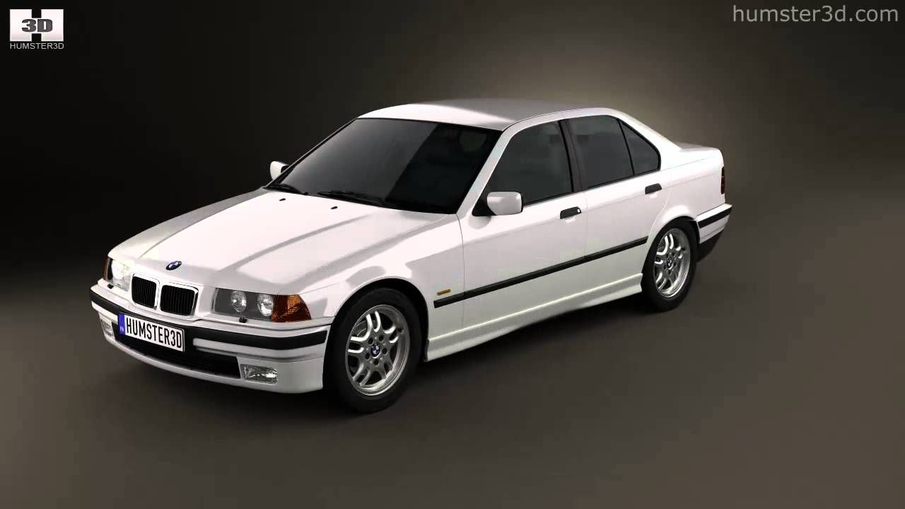 bmw 3 series e36 sedan 1994 by 3d model store youtube. Black Bedroom Furniture Sets. Home Design Ideas