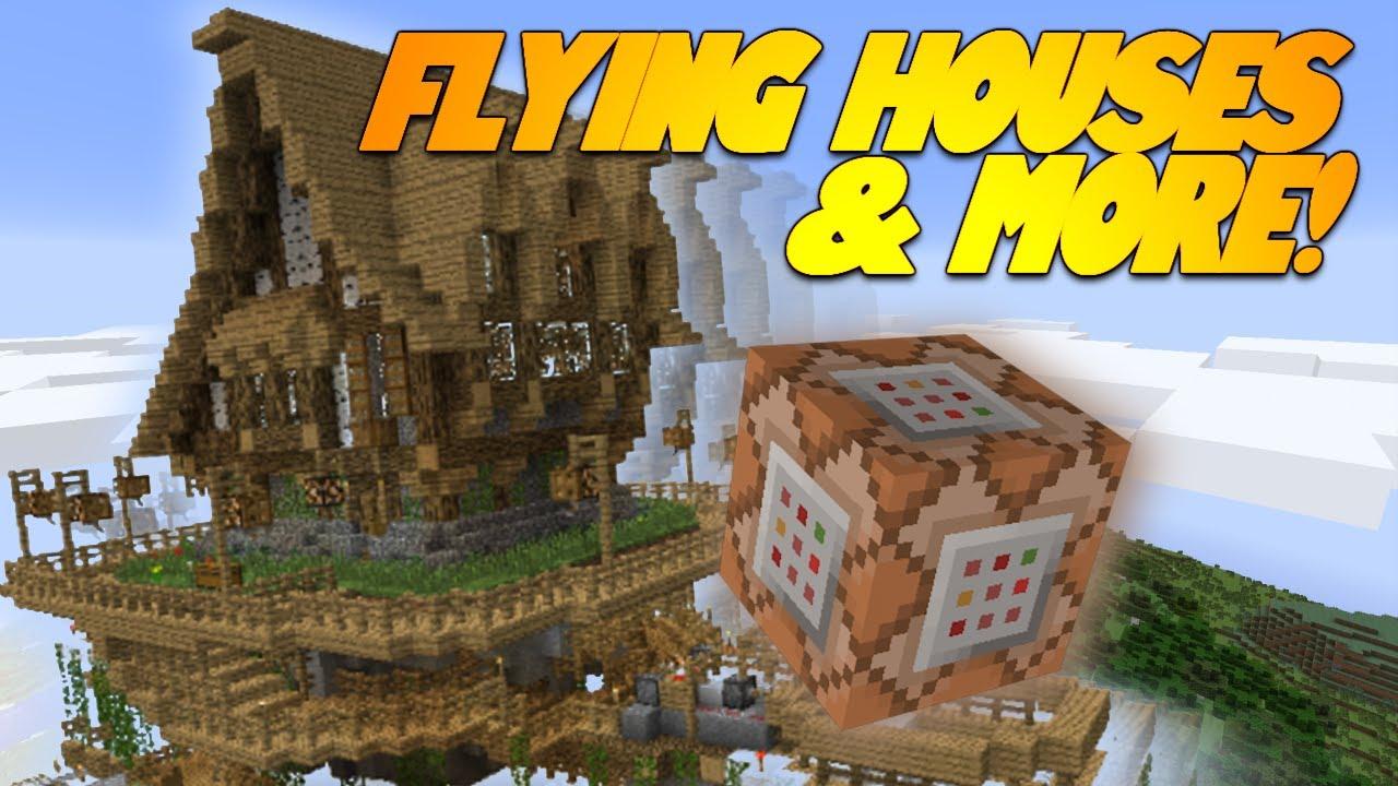 FLYING HOUSES IN MINECRAFT!? MINECRAFT AIRPLANES! Minecraft 8.8 Update  (Snapshot)
