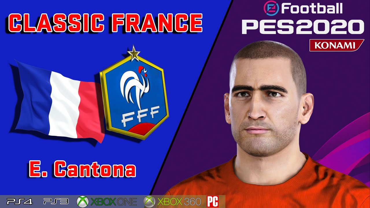 Liverpool · manchester city · manchester united · milan ac · real madrid. E Cantona Face Stats Classic France How To Create In Pes 2020 Youtube