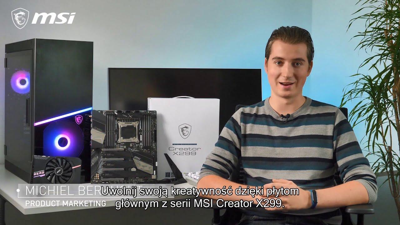 Wydajność i Styl - MSI Creator X299
