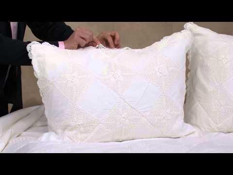 Hand Crochet 100% Cotton 3-pc King Quilt Set With Alberti Popaj
