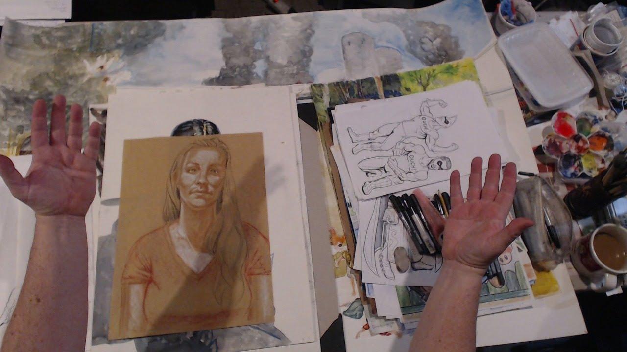 Donald Kent - Live Studio Art Stream 1