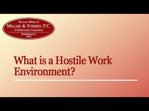 What is a Hostile Work Environment? | Denver, Colorado Employment Attorney