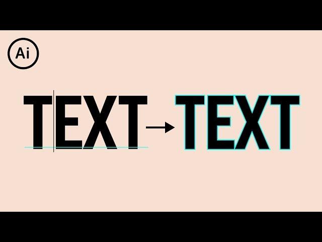 Convert Text to Shape | Illustrator Tutorial