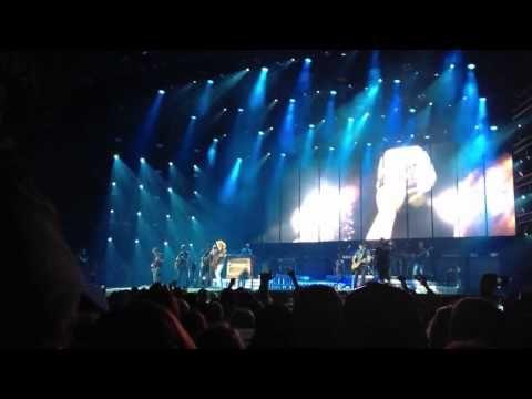 Kenny Chesney - LIVE- The Boys of Fall with helmet presentation - Detroit, MI 8/17/2013