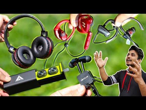5 DIFFERENT WIRELESS HEADPHONE & EARPHONES ▶ You Can Buy in Online Store