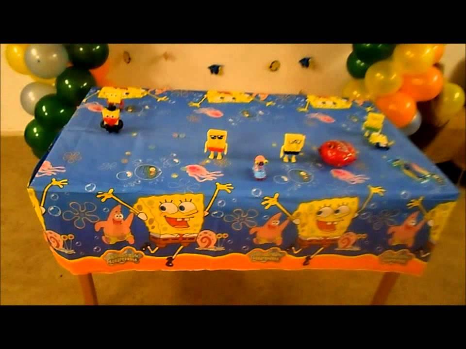 Decoracion de bob esponja con globos youtube - Decoracion bob esponja ...