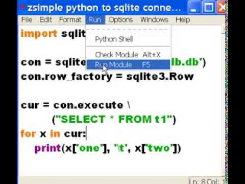 Python Another Python to Sqlite3 Data Printout by Field-Name