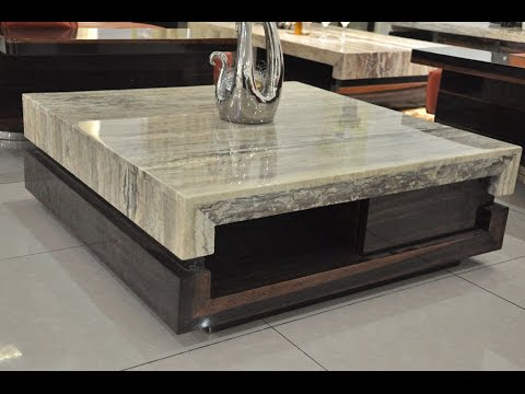 Bon Modern Coffee Table | Burl Wood Coffee Table Glass Top