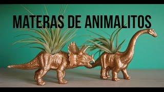DIY MATERAS EN FORMA DE ANIMALES / FÁCIL Y RÁPIDO / MACETAS CON JUGUETE .