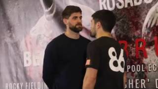 ROCKY FIELDING v JOHN RYDER - HEAD TO HEAD @ LIVERPOOL PRESS CONFERENCE (BRITISH TITLE FIGHT)