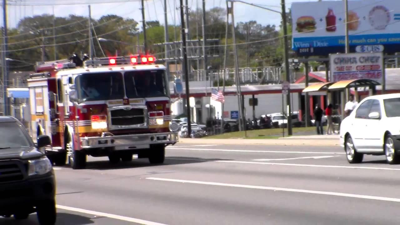 Orange County Fire Rescue Engine 42 Responding Youtube