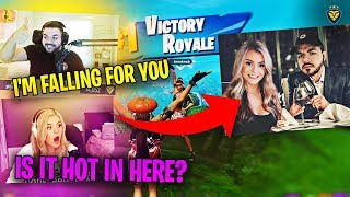 COURAGE AND BROOKE GO ON A DATE?! SO MUCH DRAMA! (Fortnite: Battle Royale)