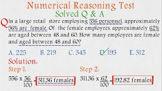 Numerical Reasoning Test   Solved and Explained   Psychometric Test   Numerical Ability Test   screenshot 5