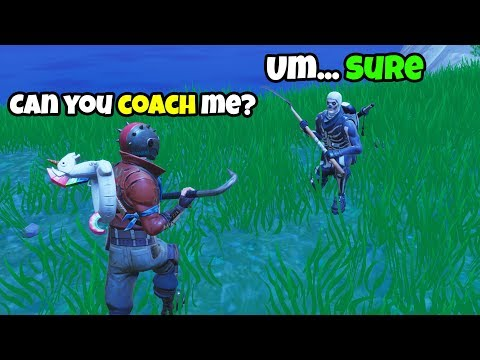 I hired a Fortnite Coach... BUT ended up Coaching HIM! (he's