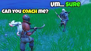 I hired a Fortnite Coach... BUT ended up Coaching HIM! (he's terrible!)