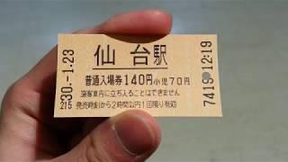 (番外編7)JR東日本の新型新幹線自動改札機に入場券(近距離サイズ)を入れて入場