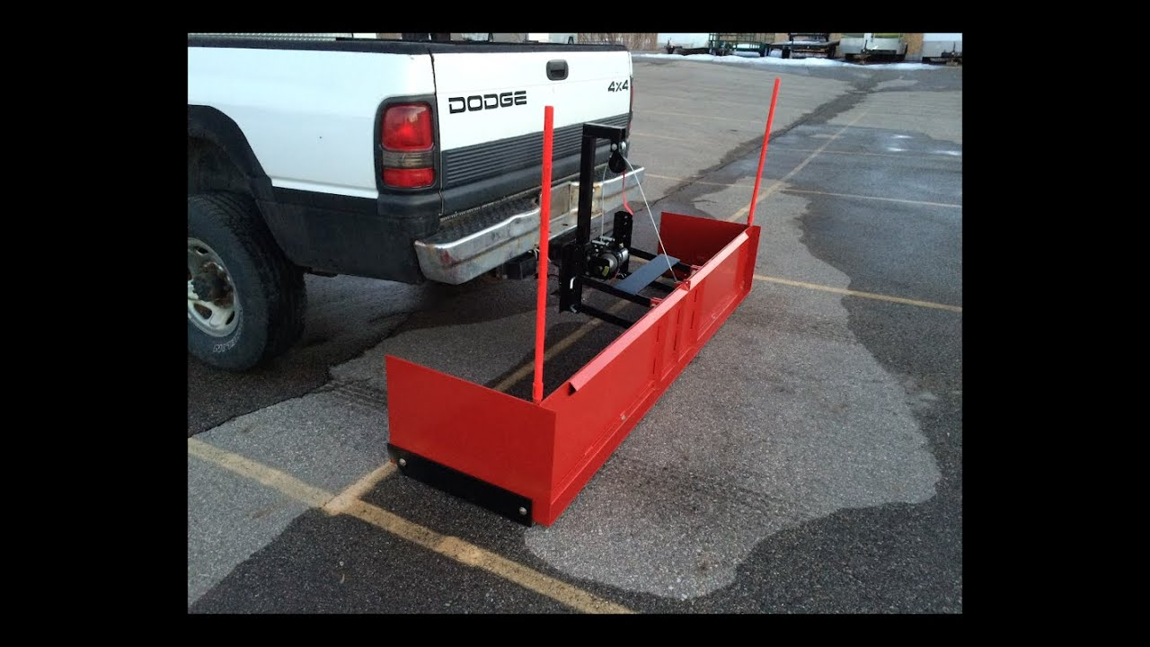Adjustable Hitch Receiver >> Homemade Backblade Snow Plow - YouTube