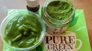 how to make Anti-ageing anti wrinkle fine line green tea cream easy DIY loaded with anti oxidants
