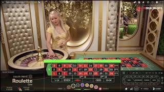 Playing Salon Privé Super VIP live roulette