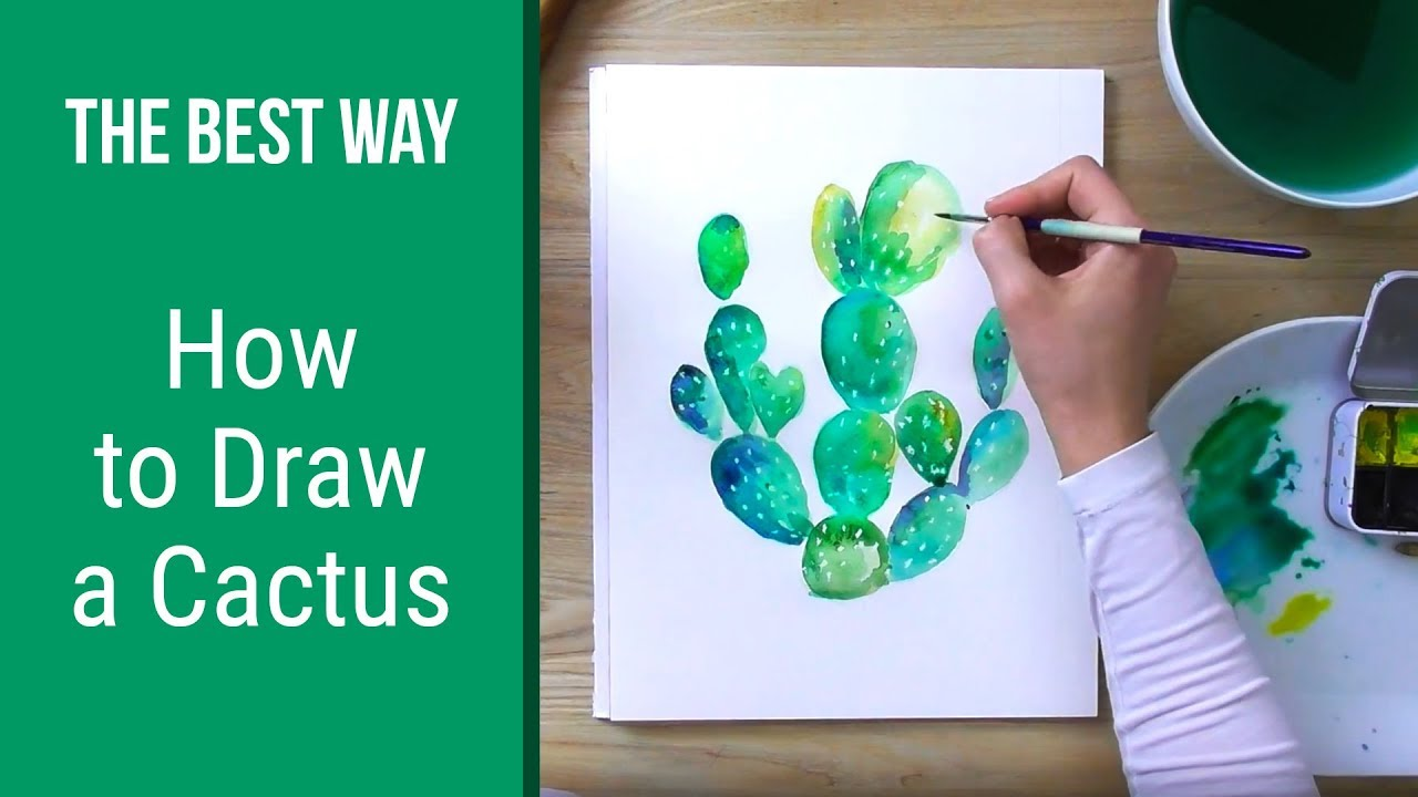 how to draw a cactus drawing tutorial for beginners. Black Bedroom Furniture Sets. Home Design Ideas
