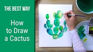How to Draw a Cactus | Drawing Tutorial for beginners | Easy Step By Step Drawing
