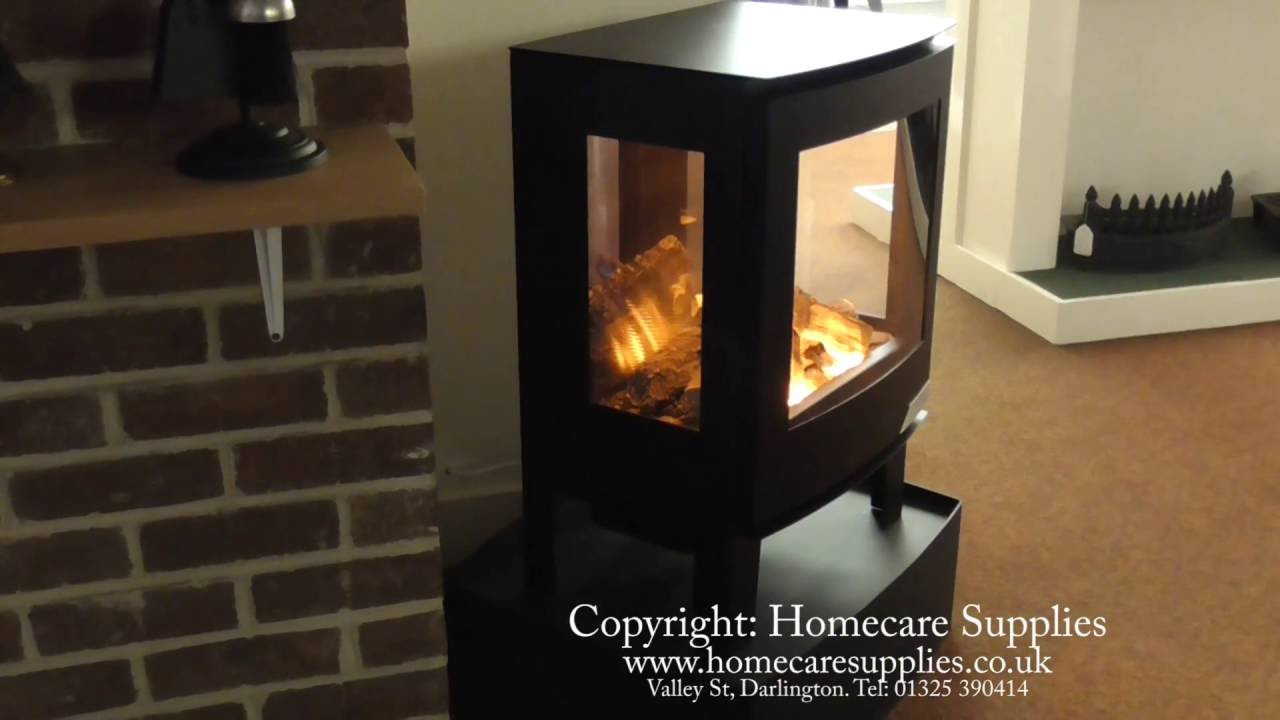 evonic banff3 3 sided electric stove in black from homecare