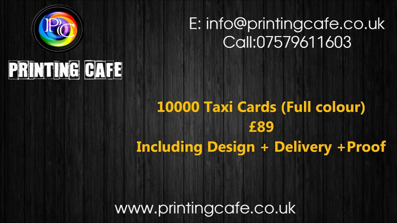 PRINTING CAFE | Low Cost Taxi, Minicab, Black Cab, Private Hire ...