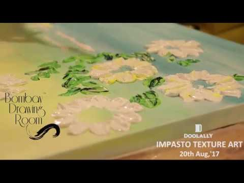 Impasto texture Art - Knife Painting Party by Bombay Drawing Room