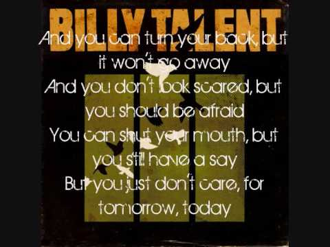 Billy Talent - Turn your Back with Lyrics
