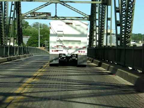 A drive into Atchison Kansas over the Missouri bridge
