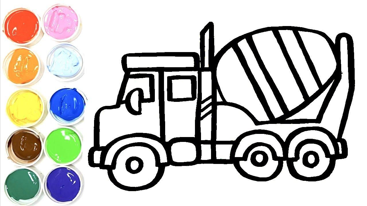 Dessiner Un Camion Betonniere Pour Bebe Coloriage Camion Pour Bebe Youtube