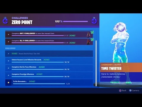 Secret Zero Point Skin Revealed New Fortnite Season X Mystery Item Zero Point Challenges Reward