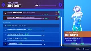 "SECRET ""ZERO POINT"" SKIN REVEALED! NEW FORTNITE SEASON X MYSTERY ITEM - ZERO POINT CHALLENGES REWARD"