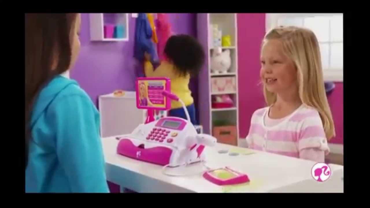 Barbie Toys For Girls : Toys for girls barbie shopping spree cash register youtube