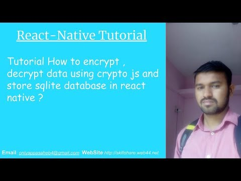 Tutorial How to encrypt , decrypt data using crypto js and store sqlite database in react native ? thumbnail