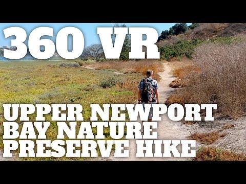 Upper Newport Bay Nature Preserve Hike - 360° VR Video