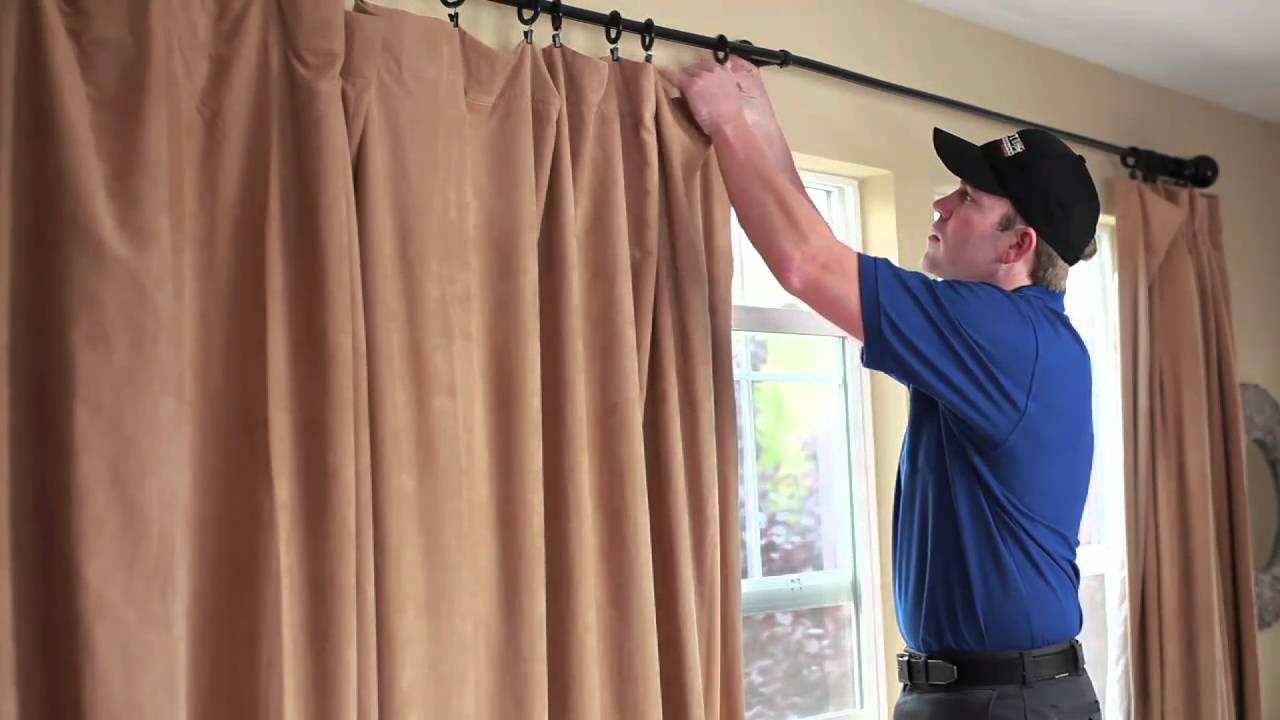 Drapery cleaning with coit services youtube for Curtain making service