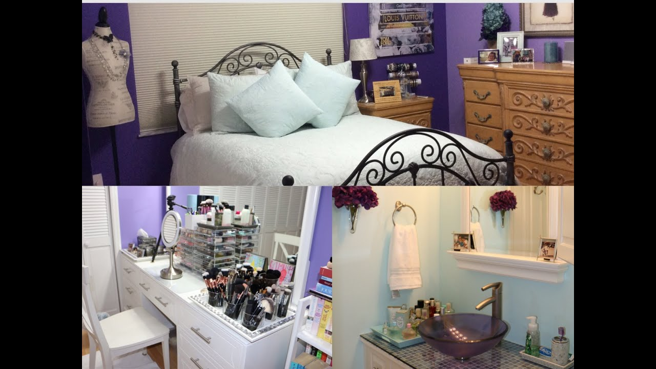 Room tour bedroom makeup room amp bathroom tour youtube