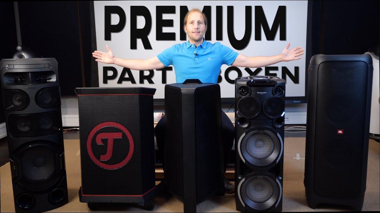 Test: JBL vs. Teufel vs. Sony vs. Panasonic vs. Samsung - 5 Premium-Partyboxen im Vergleich