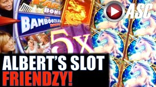 ALBERT'S SLOT FRIENDZY (Slot Play w/ YouTubers & Friends)! Casino Slot Machine Bonus Wins!