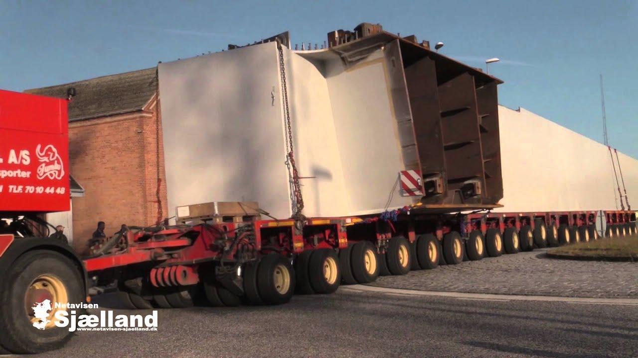 Transport af broelementer fra Korsør til København - YouTube