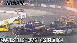 Nascar - 2017 - Martinsville - Crash Compilation thumbnail