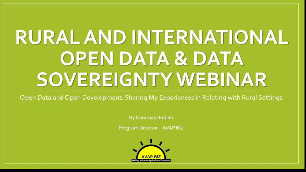 Geothink&Learn 11: Rural and International Open Data and