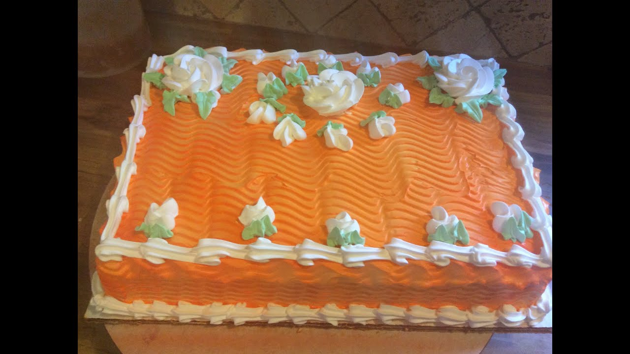 decoracion de bizcocho pastel o torta fria youtube