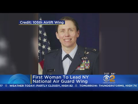 First Woman To Lead NY National Air Guard Wing - Duration: 0:28.