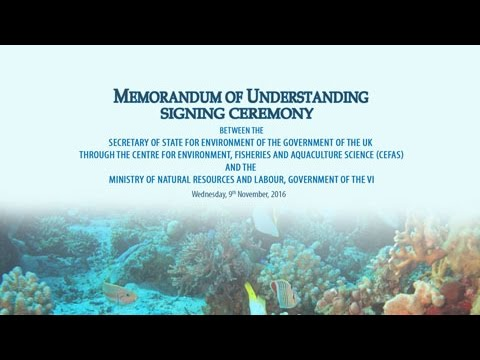 SIGNING OF MOU BETWEEN THE SECRETARY OF STATE FOR ENVIRONMENT OF THE GOVERNMENTOF THE UK THROUGH THE